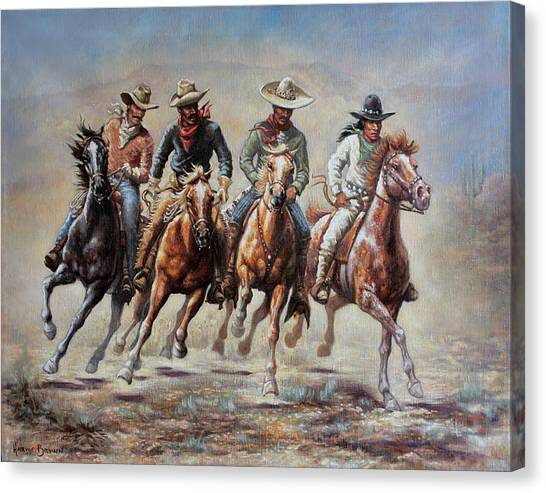 The Cowboys Canvas Print