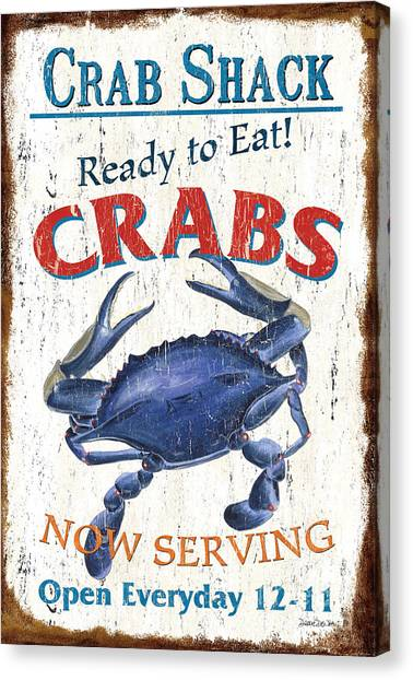 Crabs Canvas Print - The Crab Shack by Debbie DeWitt