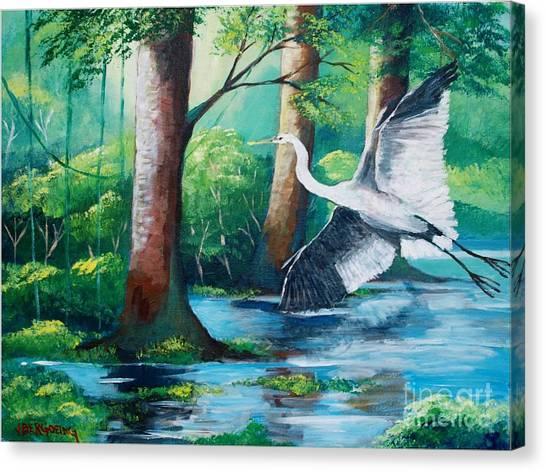 The Crane Canvas Print
