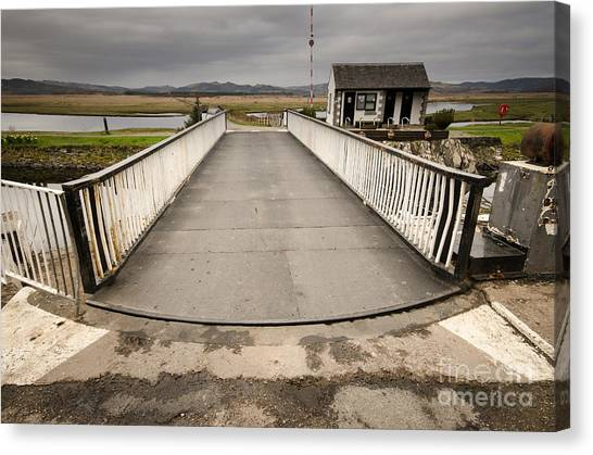 Scotland Canvas Print - The Crinan Canal by Smart Aviation
