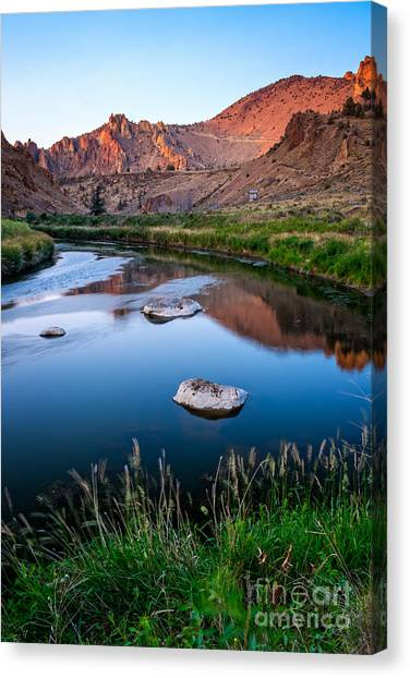 The Crooked River Runs Through Smith Rock State Park  Canvas Print