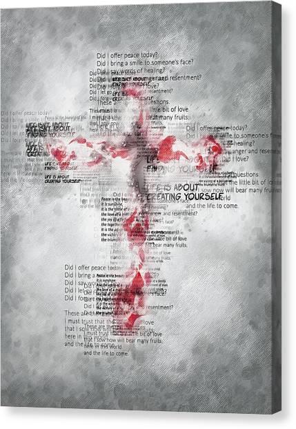 The Cross Speaks Canvas Print