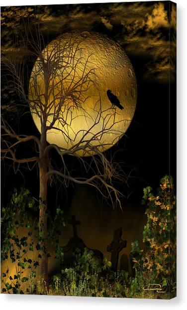 The Crow Canvas Print by Emma Alvarez