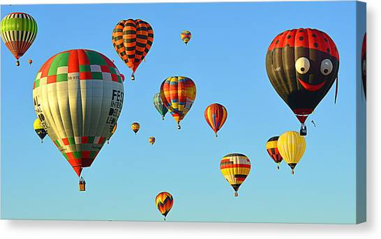 Canvas Print featuring the photograph The Crowded Skies by AJ Schibig