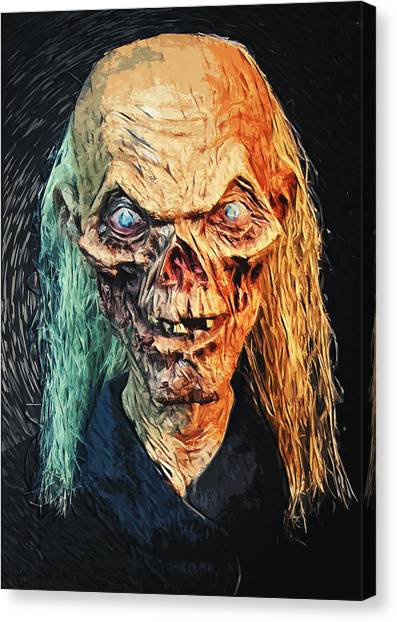 The Haunted House Canvas Print - The Crypt Keeper by Taylan Apukovska
