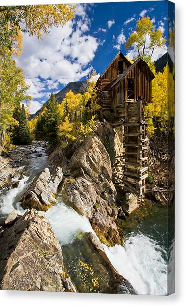 Crystal Mill Canvas Print - The Crystal Mill by Guy Schmickle
