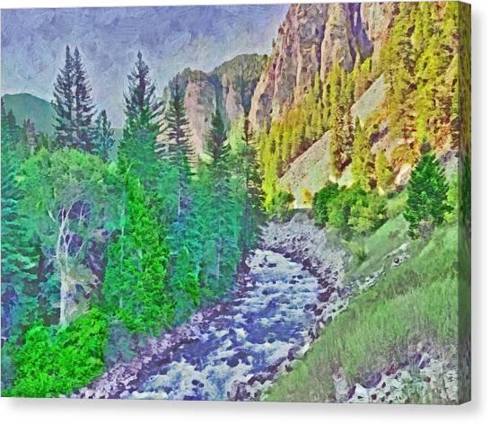 The Crystal River Around Redstone Colorado Canvas Print