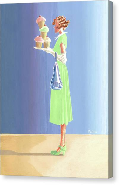 The Cupcake Lady Canvas Print