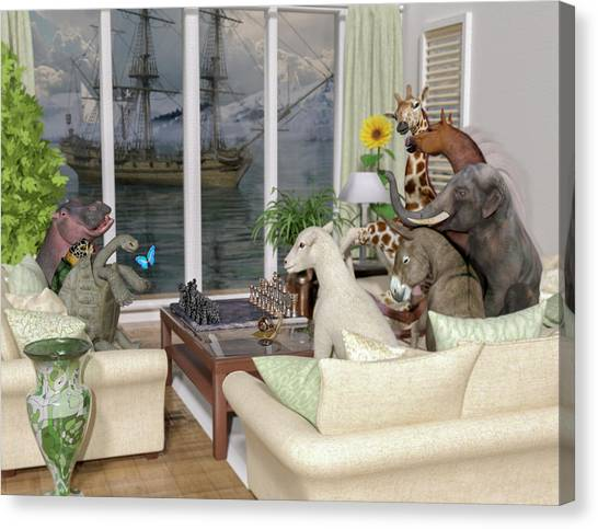 Mountain View Canvas Print - The Curious Room by Betsy Knapp