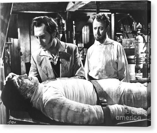 The Curse Of Frankenstein 1957 Baron Victor Frankenstein Canvas Print