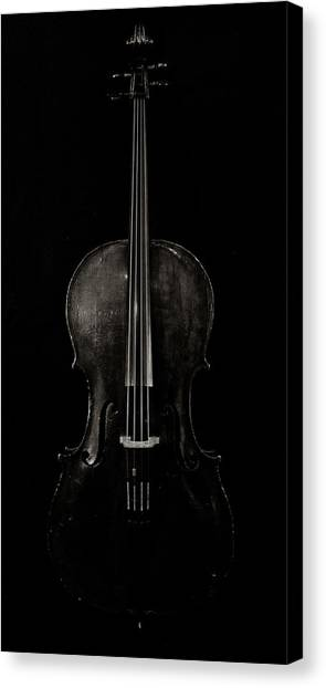 Cellist Canvas Print - The Curve Of Her - Two by Sam Hymas
