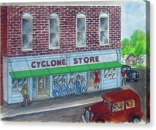 The Cyclone Store 1948 Canvas Print