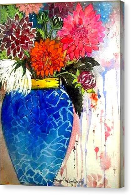 The  Dahlias Canvas Print