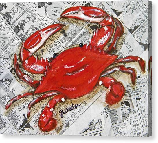 The Daily Crab Canvas Print