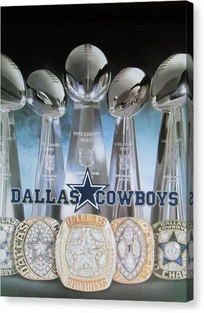 Racecar Drivers Canvas Print - The Dallas Cowboys Championship Hardware by Donna Wilson
