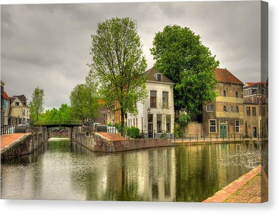 The Dam Canvas Print by Hans Kool