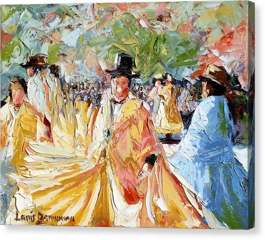 The Dance At La Paz Canvas Print