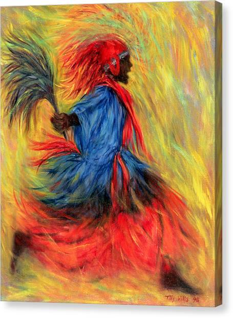 Fluids Canvas Print - The Dancer by Tilly Willis