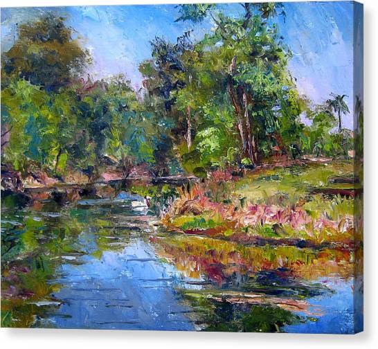 The Davie Canal Canvas Print by Mark Hartung
