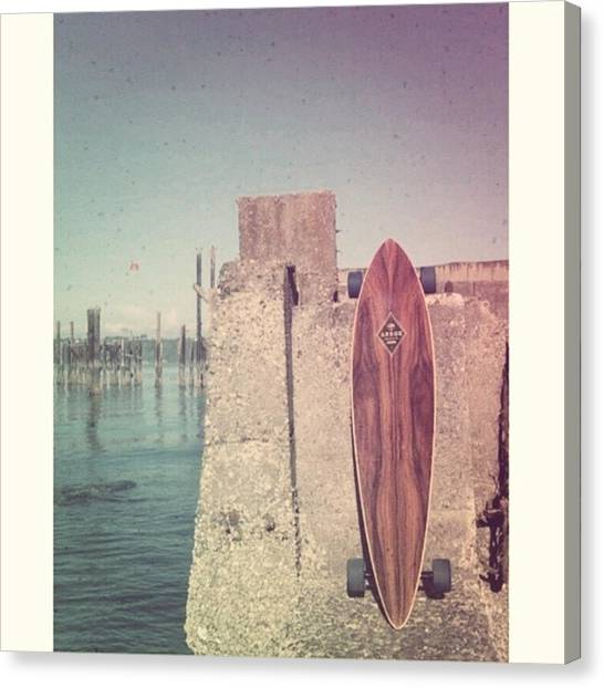 Arbor Canvas Print - The Day My #longboard Dreamt Of Being by Caitlyn Jones