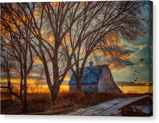 Nebraska Canvas Print - The Day's Last Kiss by Nikolyn McDonald