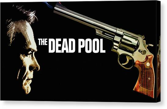 Bass Guitars Canvas Print - The Dead Pool by Maye Loeser