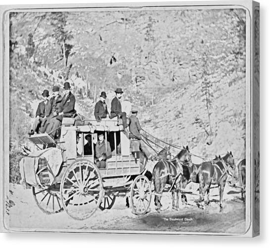 The Deadwood Coach Canvas Print