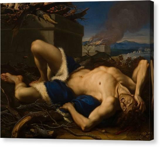 Rococo Art Canvas Print - The Death Of Abel by Antonio Balestra