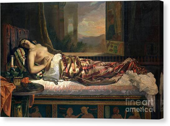 Unconscious Canvas Print - The Death Of Cleopatra by German von Bohn