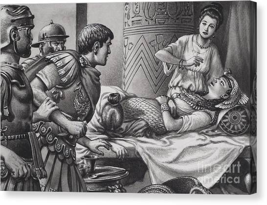 Centurion Canvas Print -  The Death Of Cleopatra by Pat Nicolle