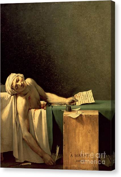 Rulers Canvas Print - The Death Of Marat by Jacques Louis David