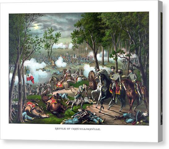 Stonewall Canvas Print - The Death Of Stonewall Jackson by War Is Hell Store