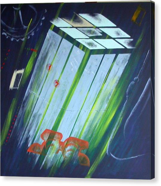 The Death Song Of The Elevator Canvas Print by Poul Costinsky