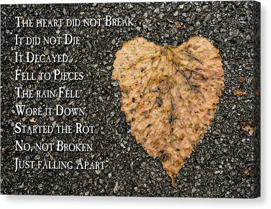 The Decay Of Heart Canvas Print