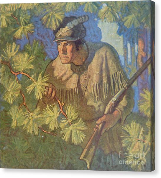Woodsmen Canvas Print - The Deerslayer  by Newell Convers Wyeth