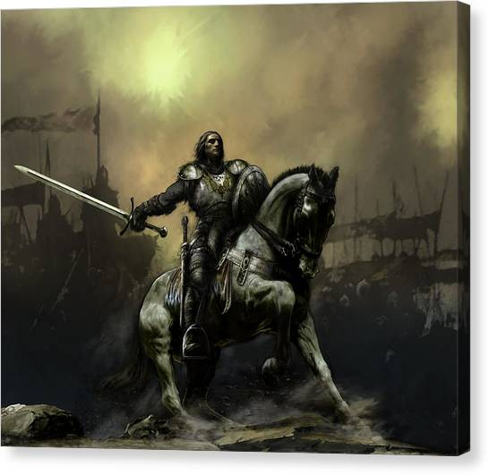War Horse Canvas Print - The Defiant by David Willicome