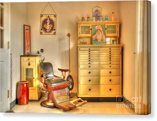 Amish Canvas Print - The Dentist Office by Tony  Bazidlo