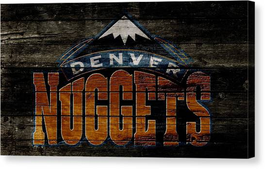 Denver Nuggets Canvas Print - The Denver Nuggets 1w by Brian Reaves