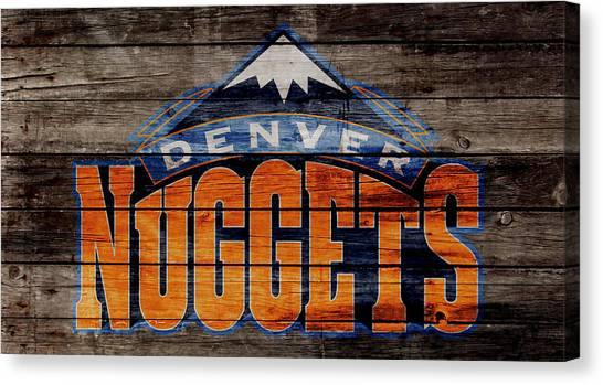 Denver Nuggets Canvas Print - The Denver Nuggets 2w by Brian Reaves