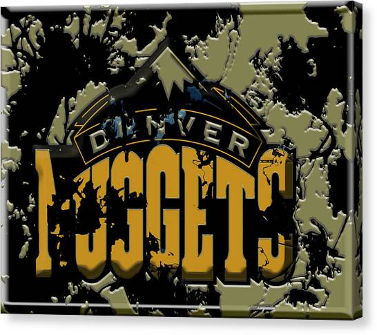 Denver Nuggets Canvas Print - The Denver Nuggets by Brian Reaves