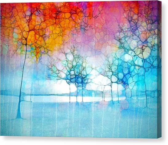 The Departing Trees Canvas Print