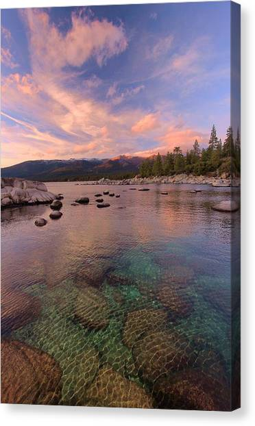 Canvas Print featuring the photograph   The Depths Of Sundown by Sean Sarsfield