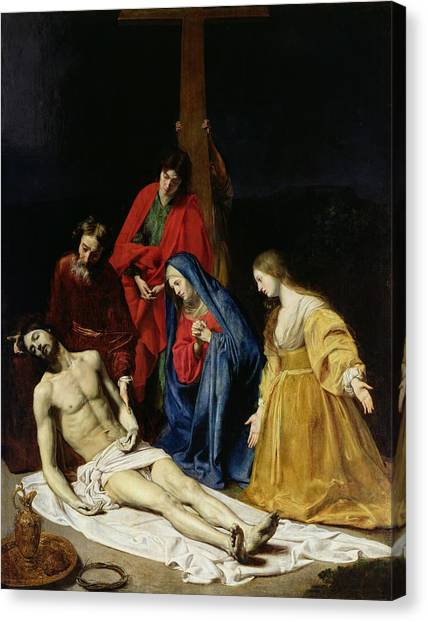Shrouds Canvas Print - The Descent From The Cross by Nicolas Tournier