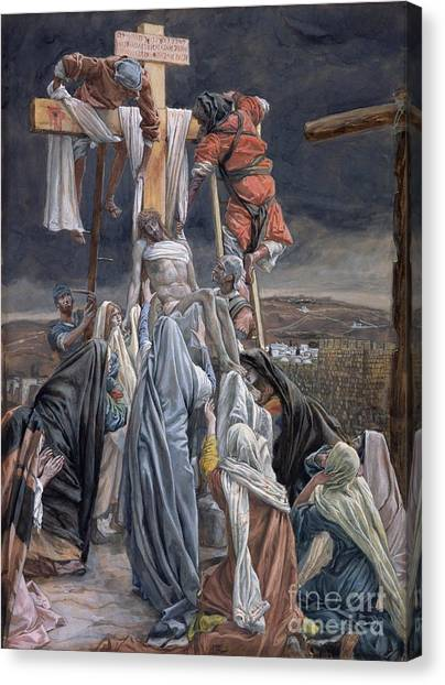 The Crown Canvas Print - The Descent From The Cross by Tissot