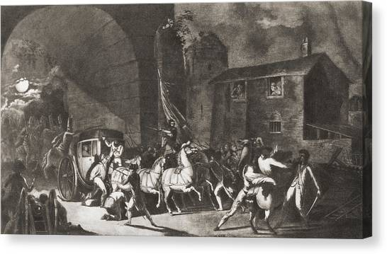 Detention Canvas Print - The Detention Of French King Louis Xvi by Vintage Design Pics