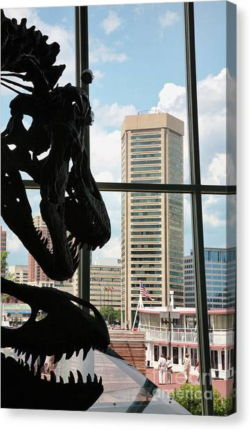 The Dinosaurs That Ate Baltimore Canvas Print