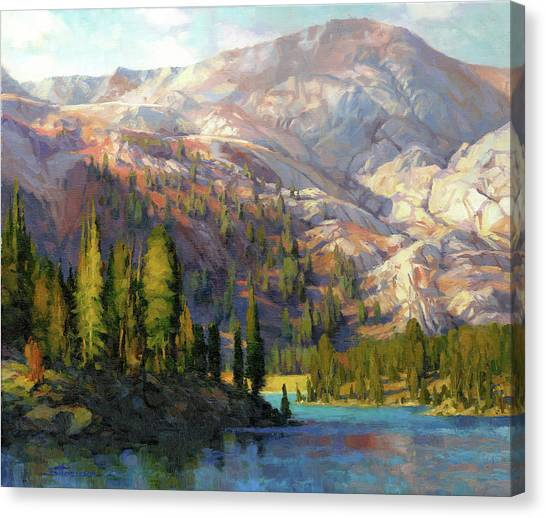 Spring Trees Canvas Print - The Divide by Steve Henderson