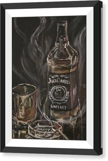 Whiskey Canvas Print - The Divorcee by Ekaterina Druzhinina