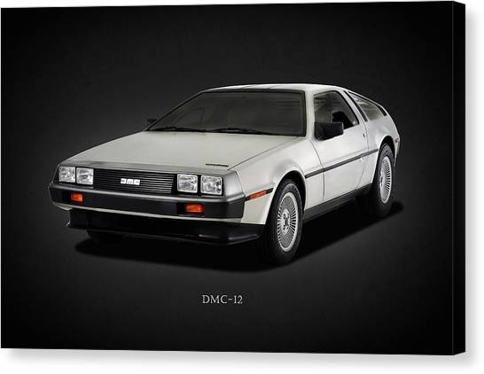 Back To The Future Canvas Print - The Dmc-12 by Mark Rogan
