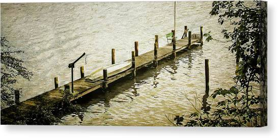 The Dock Canvas Print